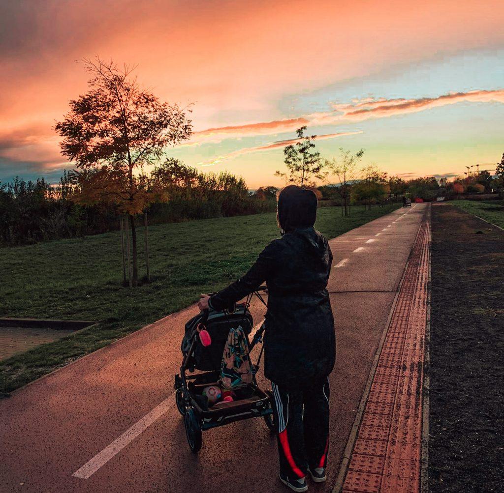 Kočíkujeme pri západe slnka